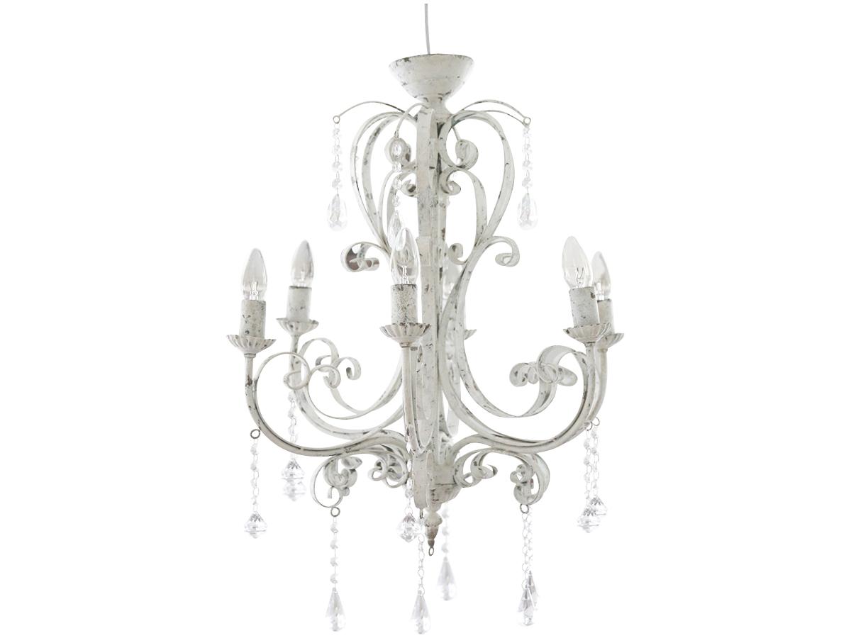 kronleuchter shabby chic 3258 lampen wohnen atelier roosarot. Black Bedroom Furniture Sets. Home Design Ideas