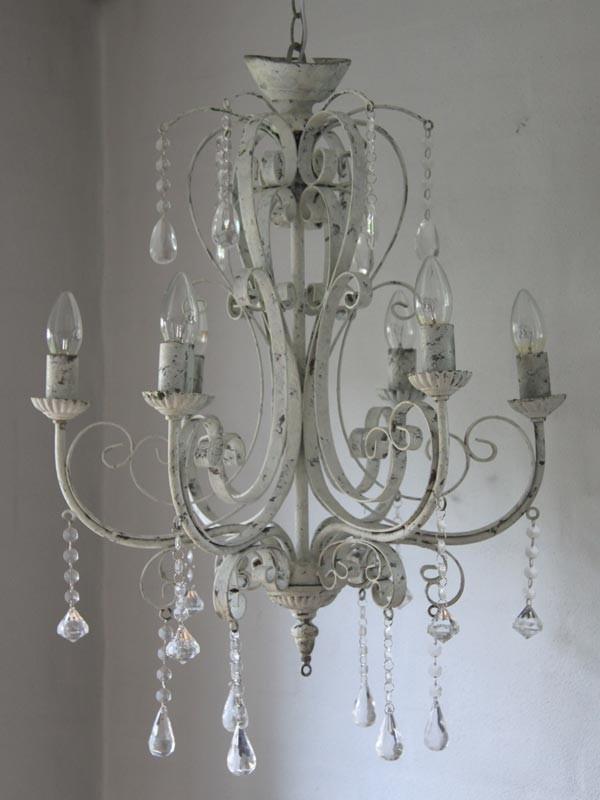 Kronleuchter Shabby Chic (3258) | Lampen | Wohnen | Atelier Roosarot