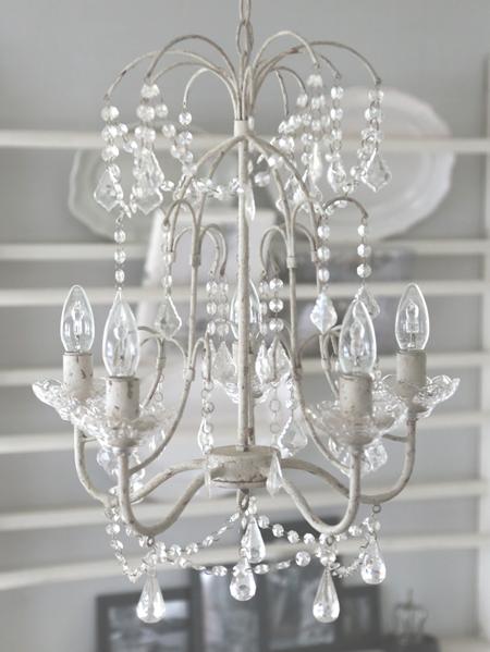 kronleuchter shabby chic 3259 lampen wohnen atelier roosarot. Black Bedroom Furniture Sets. Home Design Ideas