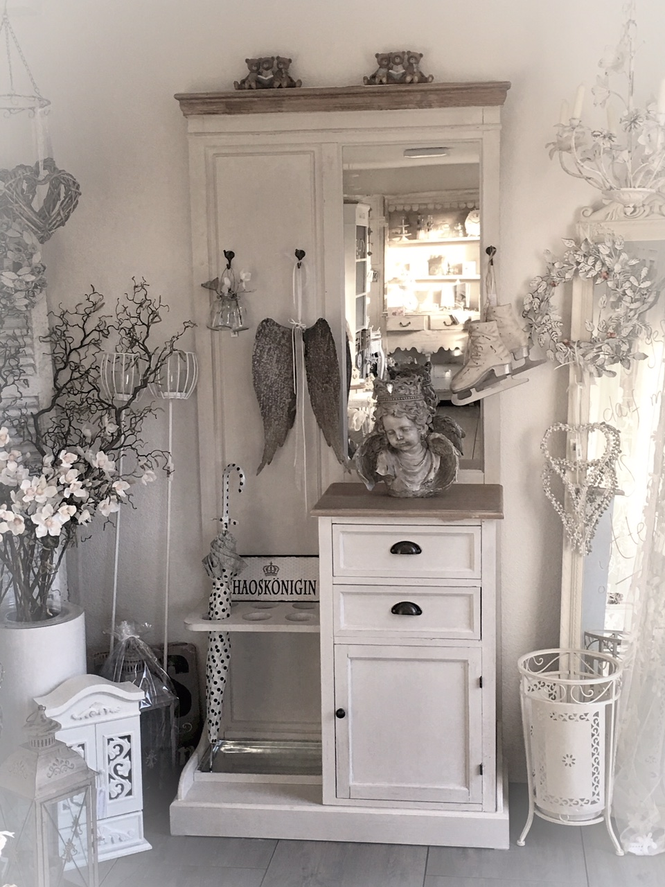 shabby chic garderobe 3892 neu aktuell atelier roosarot. Black Bedroom Furniture Sets. Home Design Ideas