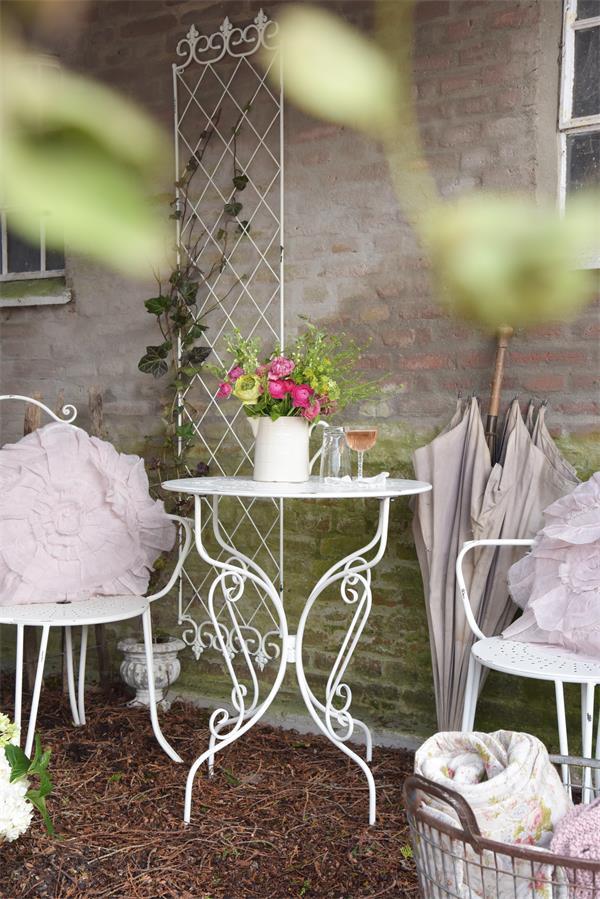 Shabby Chic Gartentisch 6424 Gartenmobel Mobel Atelier Roosarot