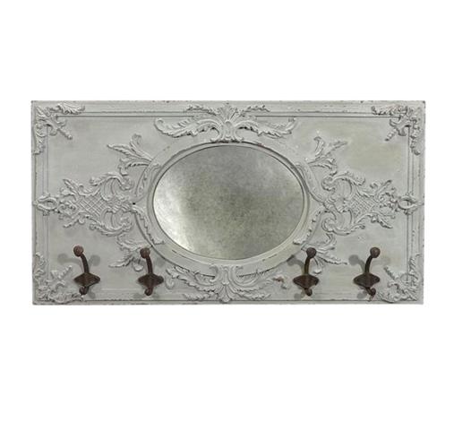 vintage spiegel mit haken 5670 spiegel wohnen atelier roosarot. Black Bedroom Furniture Sets. Home Design Ideas